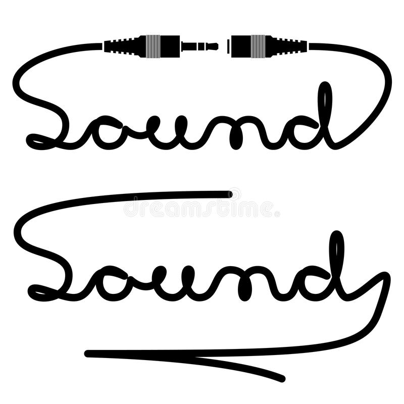 jack connectors sound calligraphy royalty free stock