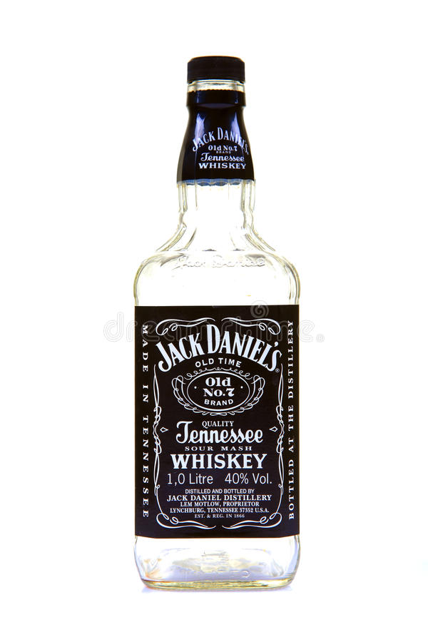 Jack daniel whiskey bottle. Jack Daniel's is a brand of whiskey that is among the world's best-selling liquors and is known for its square bottles and black