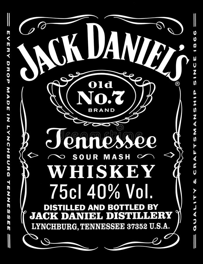Jack Daniels immagine stock libera da diritti