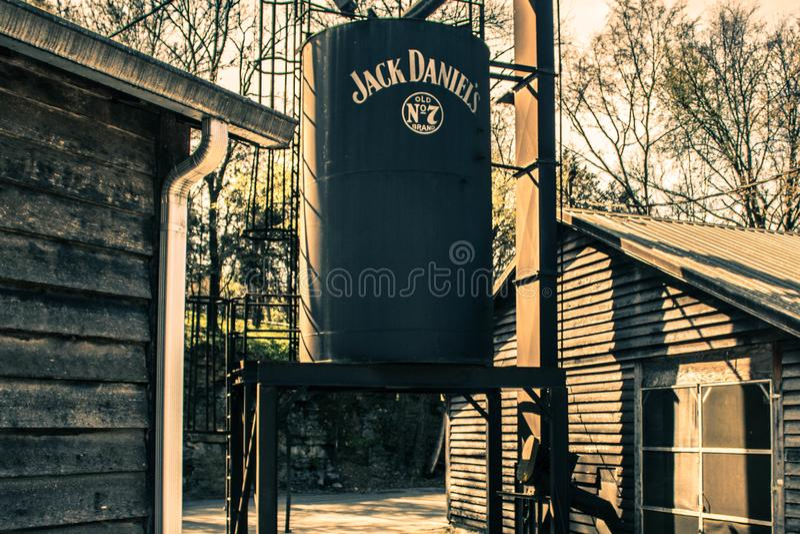 Jack Daniels Distillery imágenes de archivo libres de regalías