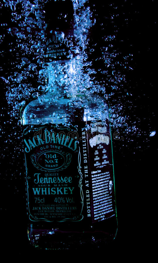 Jack Daniels Old Time Jennesse Whiskey 75 Cl royalty free stock image