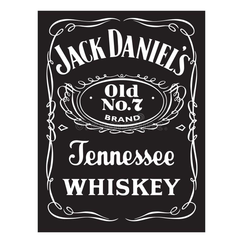 Free Jack Daniels Whiskey Logo Editorial Illustration Royalty Free Stock Image - 168841206