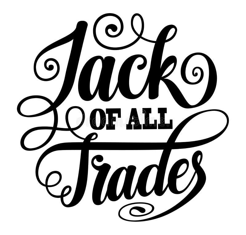 Jack de tous les commerces autour de marquer avec des lettres SVG illustration de vecteur