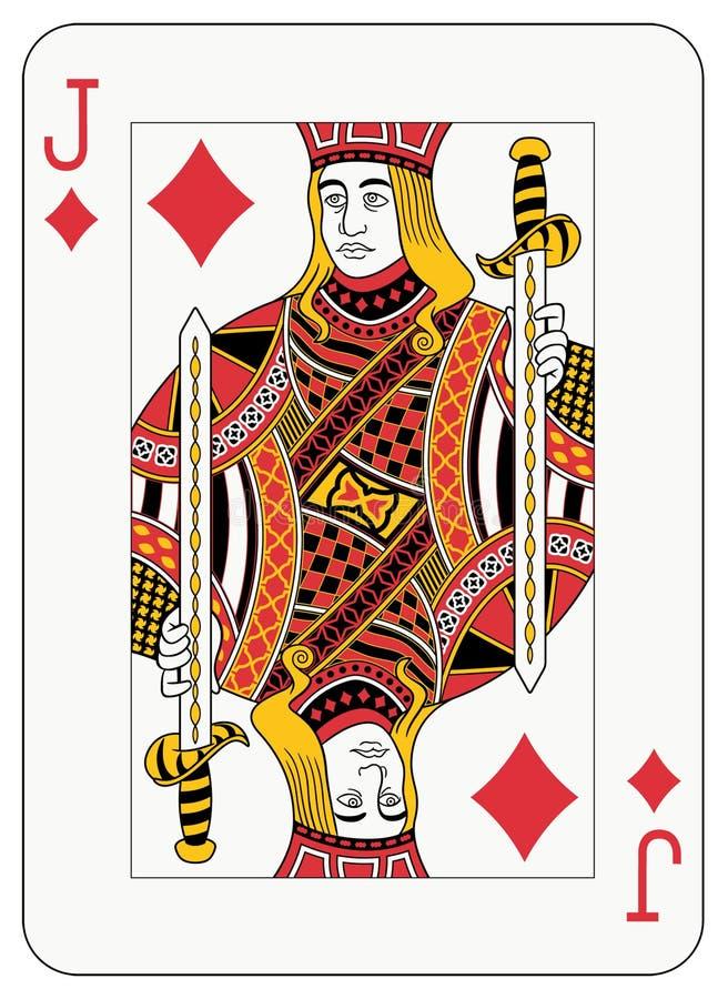 Download Jack of diamonds stock vector. Image of leisure, gambler - 12719563