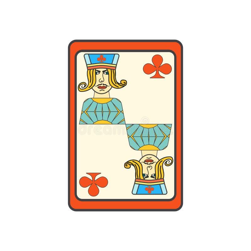 Jack do sinal e do símbolo do vetor do ícone dos clubes isolado no fundo branco, Jack do conceito do logotipo dos clubes ilustração do vetor