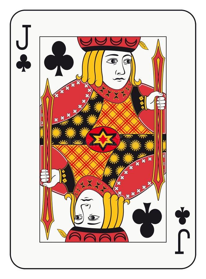 Jack dos clubes ilustração royalty free