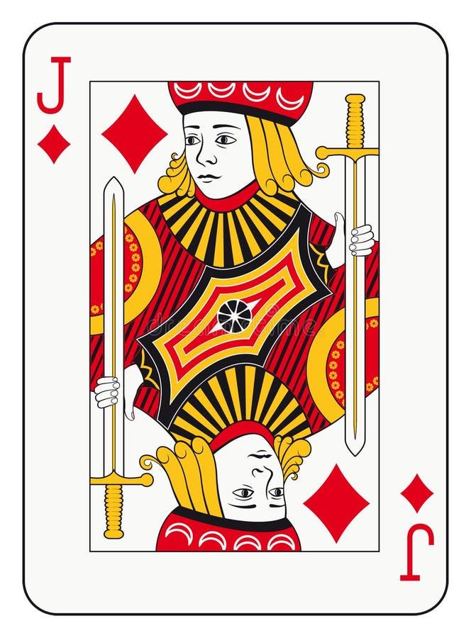 Jack dos diamantes ilustração do vetor