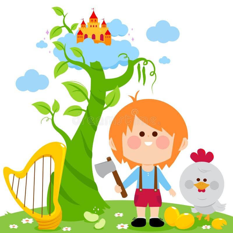 Jack e o caule de feijoeiro mágico ilustração royalty free