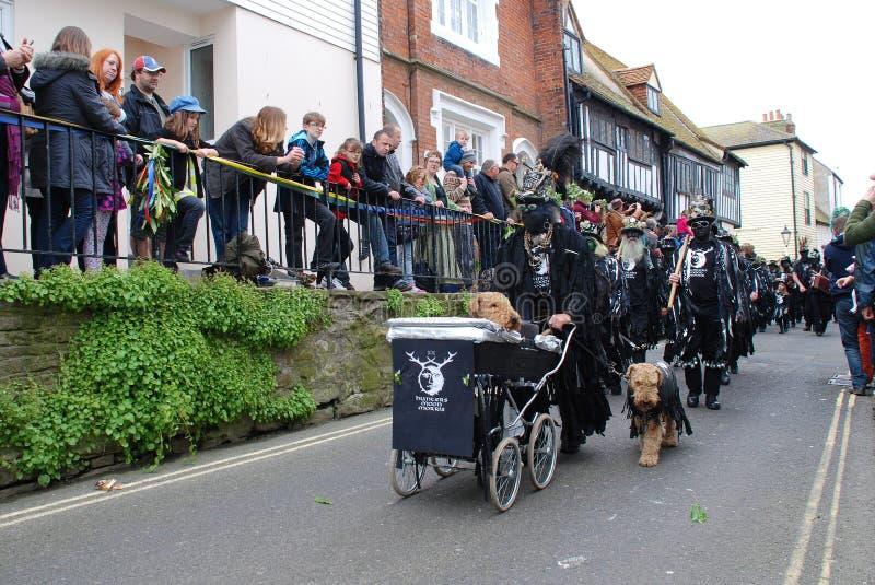 Jack en el festival verde, Hastings imagenes de archivo