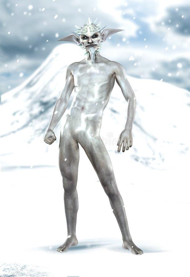 Jack Frost royaltyfri illustrationer