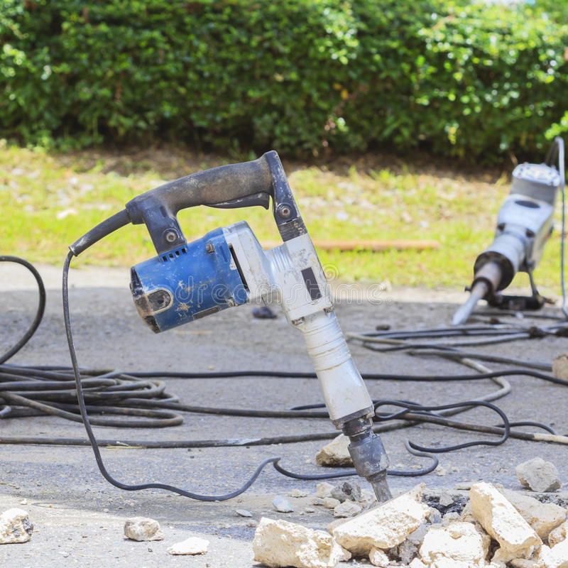 Download Jack Hammer stock image. Image of outdoors, repairing - 26335251