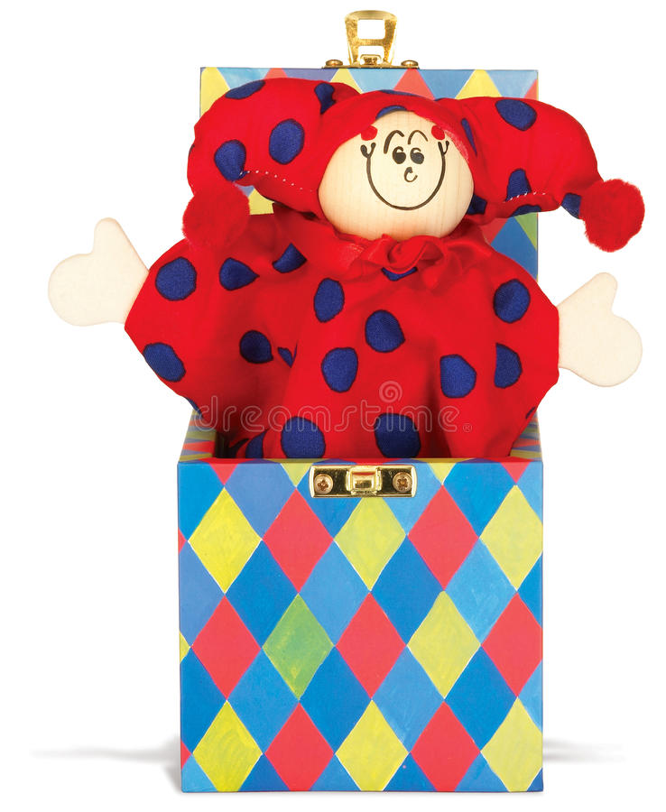 Free Jack In The Box Childrens Toy On A White Backgroun Royalty Free Stock Photos - 15248748