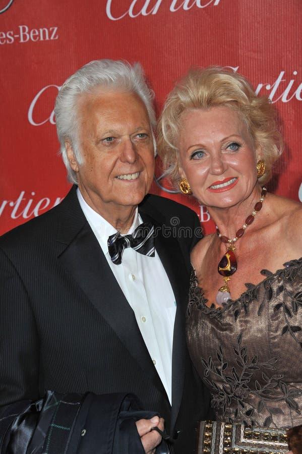 Jack Jones. PALM SPRINGS, CA - JANUARY 4, 2014: Singer Jack Jones & wife at the 2014 Palm Springs International Film Festival Awards gala at the Palm Springs stock photography