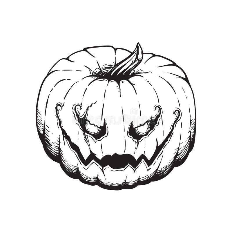 Jack Lantern Pumpkin Halloween Illustration arkivbilder
