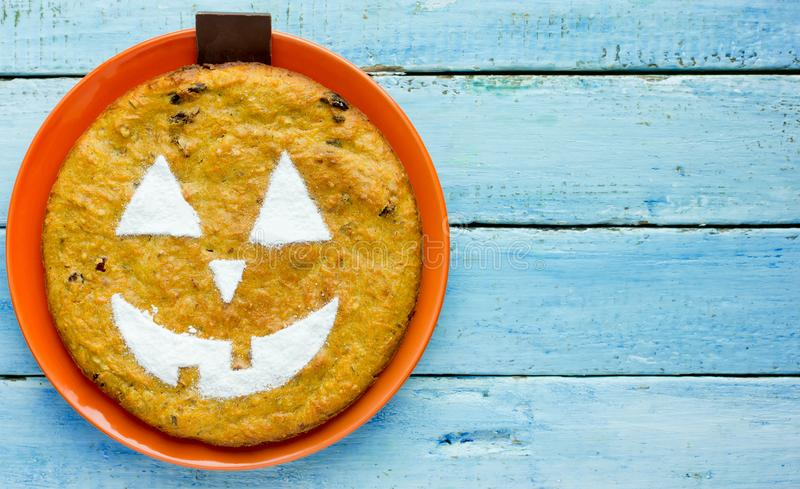 Jack ` - latarniowy dyniowy kulebiak dla Halloween fotografia stock