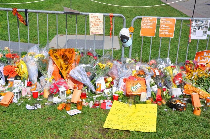 Download Jack Layton Memorial In Parliament Hill, Ottawa Editorial Image - Image: 20851840