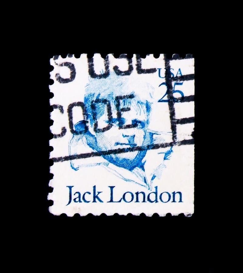 Jack London, Grote Amerikanen serie, circa 1988 royalty-vrije stock fotografie