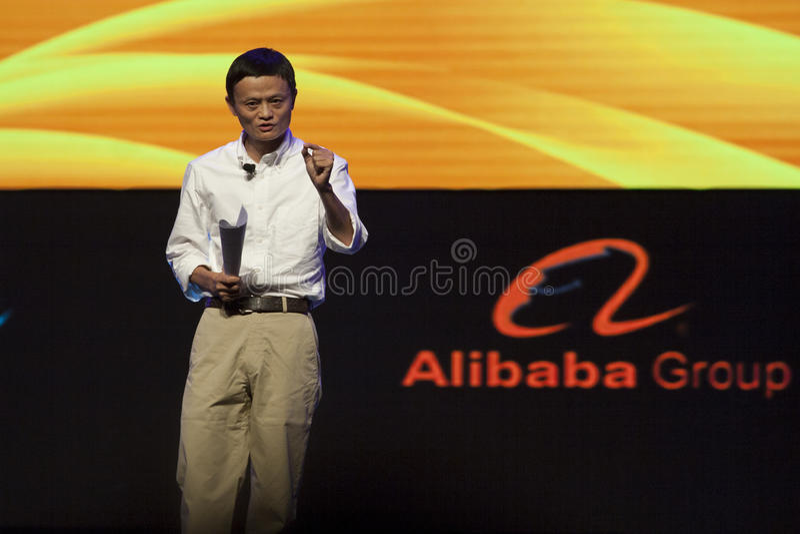 Jack Ma of Alibaba stock image