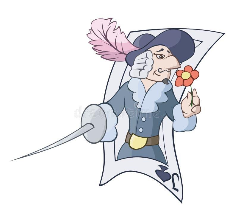 Jack met een zwaard vector illustratie