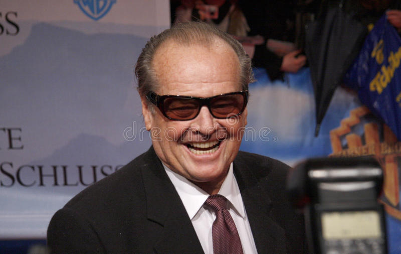 Jack Nicholson foto de archivo libre de regalías