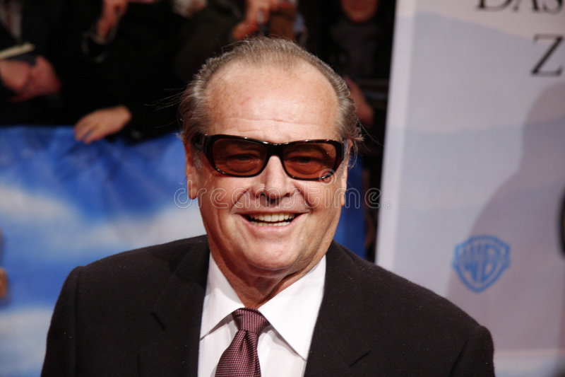 Jack Nicholson fotografie stock libere da diritti