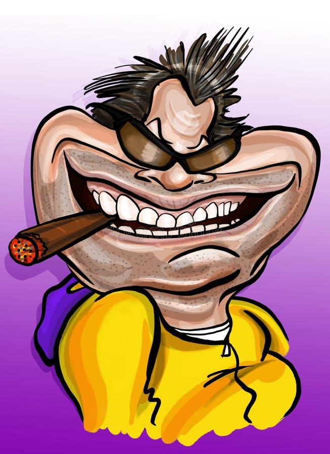 Jack Nicholson karikatyr royaltyfri illustrationer
