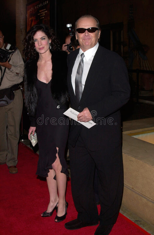 Jack Nicholson, Lara Flynn Boyle stock afbeelding