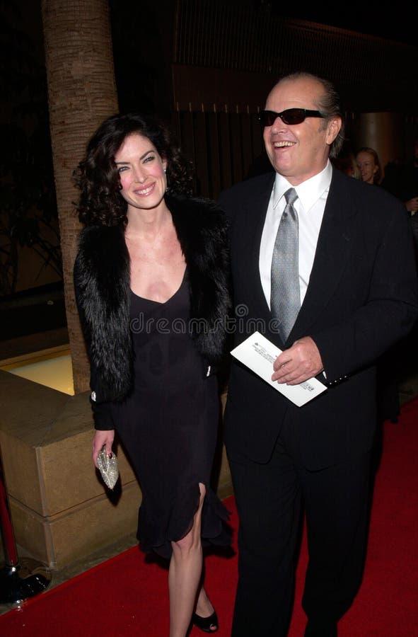 Jack Nicholson, Lara Flynn Boyle stock afbeeldingen