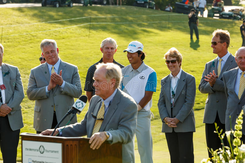 Jack Nicklaus at the Memorial Tournament stock photography