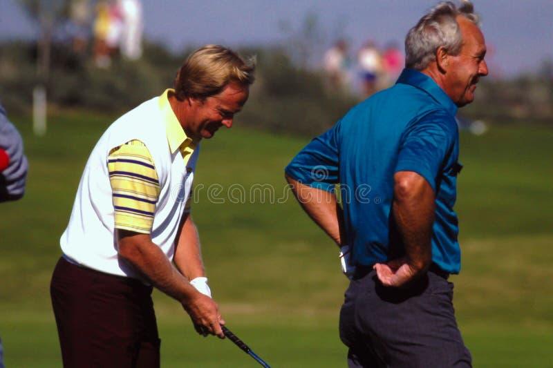 Jack Nicklaus y Arnold Palmer, leyendas de PGA foto de archivo