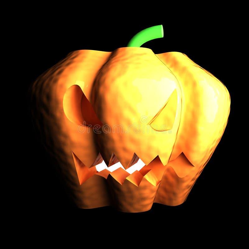 Jack O& x27; Calabaza de la linterna en oscuridad libre illustration