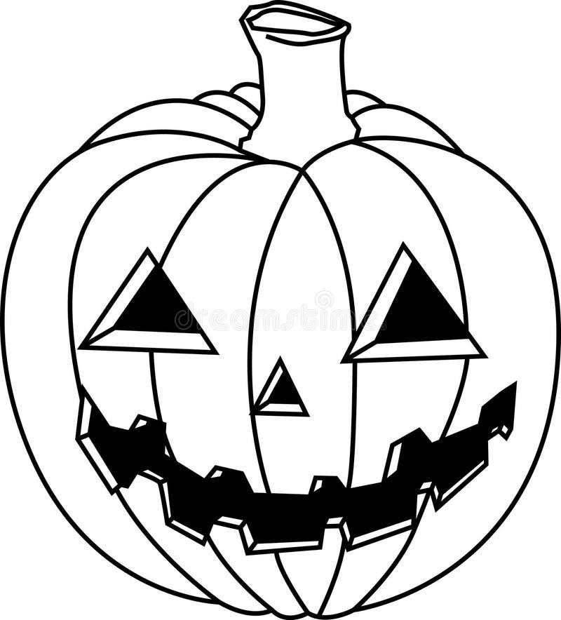 Jack o Lantern. Vector illustration of a black and white jackolantern royalty free illustration