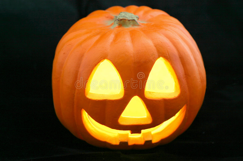Download Jack-O-Lantern on Black stock photo. Image of holiday, carve - 129896
