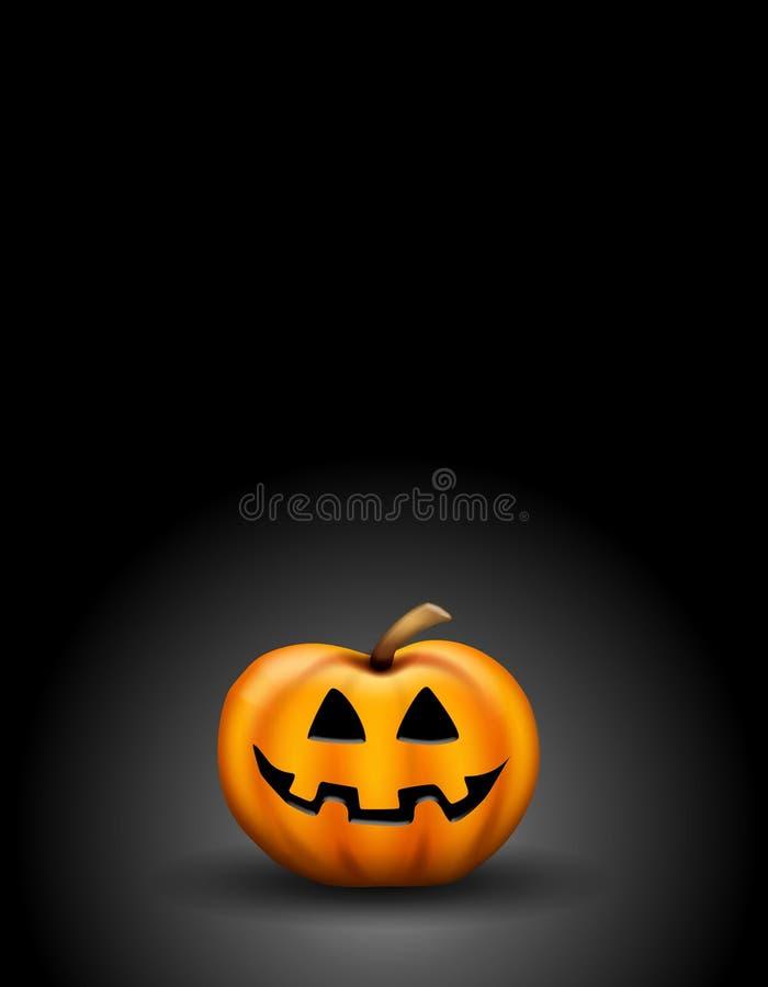 Jack O Lantern in Dark. An illustration featuring a Jack o Lantern sitting against a dark background royalty free illustration