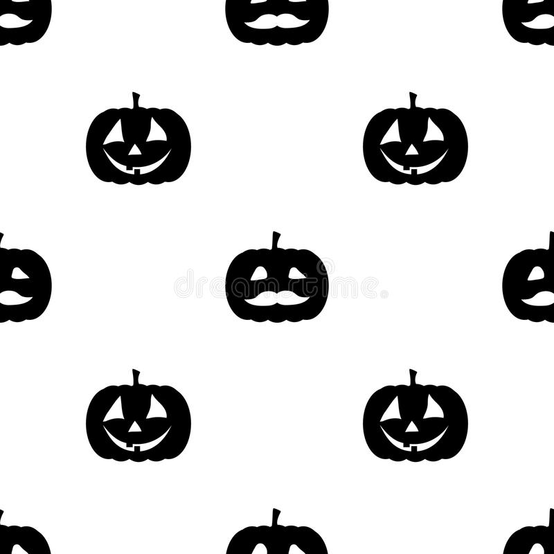 Jack o lantern elements seamless background. Halloween tileable pattern. stock illustration