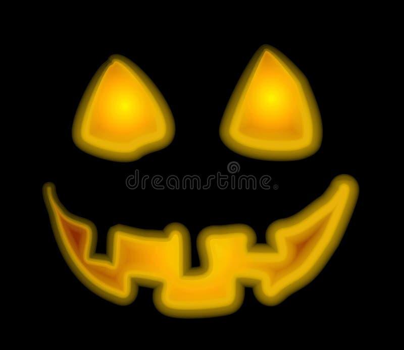 Jack-O-Lantern Face Clip Art vector illustration