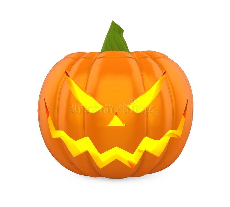 Jack O Lantern Halloween Pumpkin Isolated stock illustration