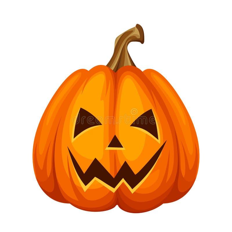 Jack-O-Lantern Halloween pumpkin. Vector illustration. stock illustration