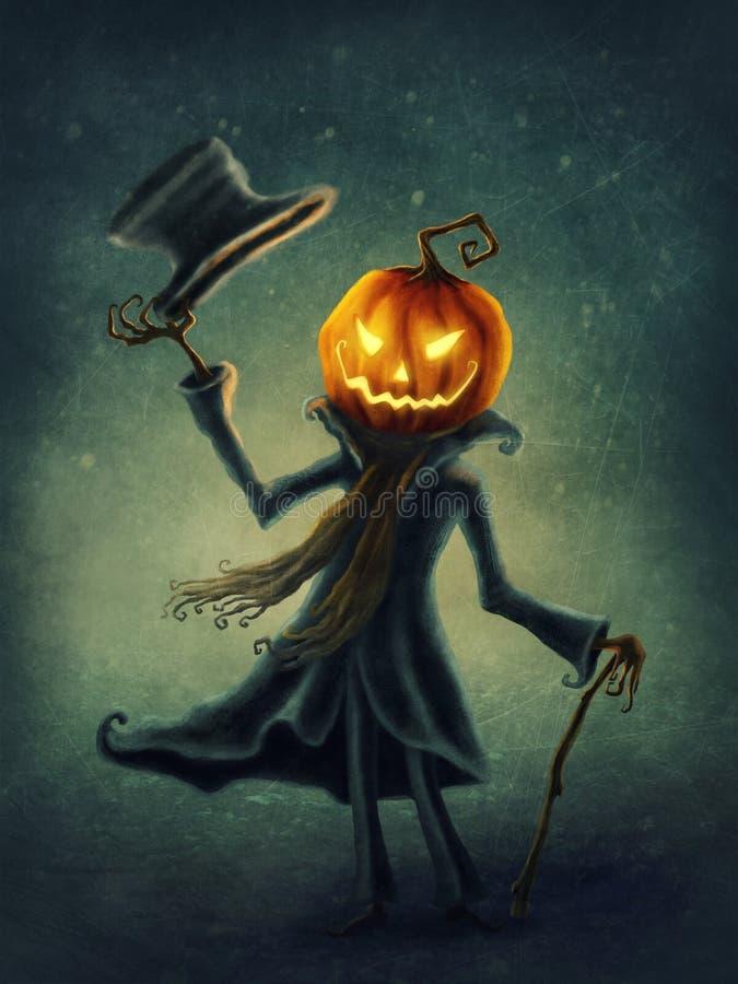 Jack o`lantern stock illustration