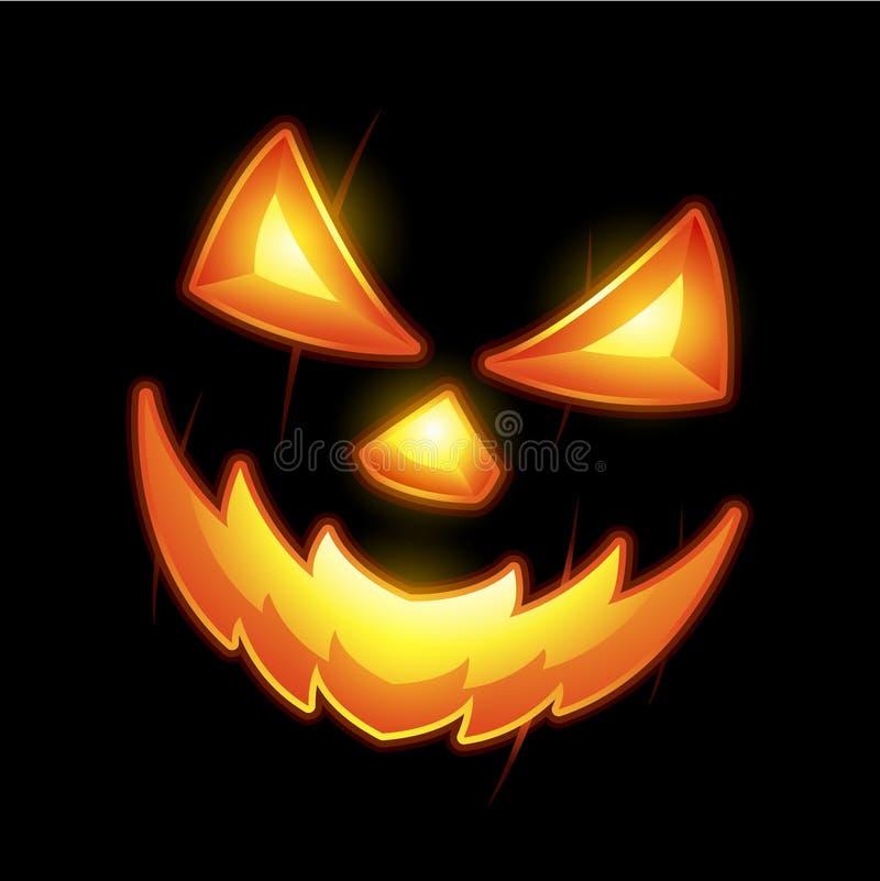 Jack o lantern smile face stock illustration