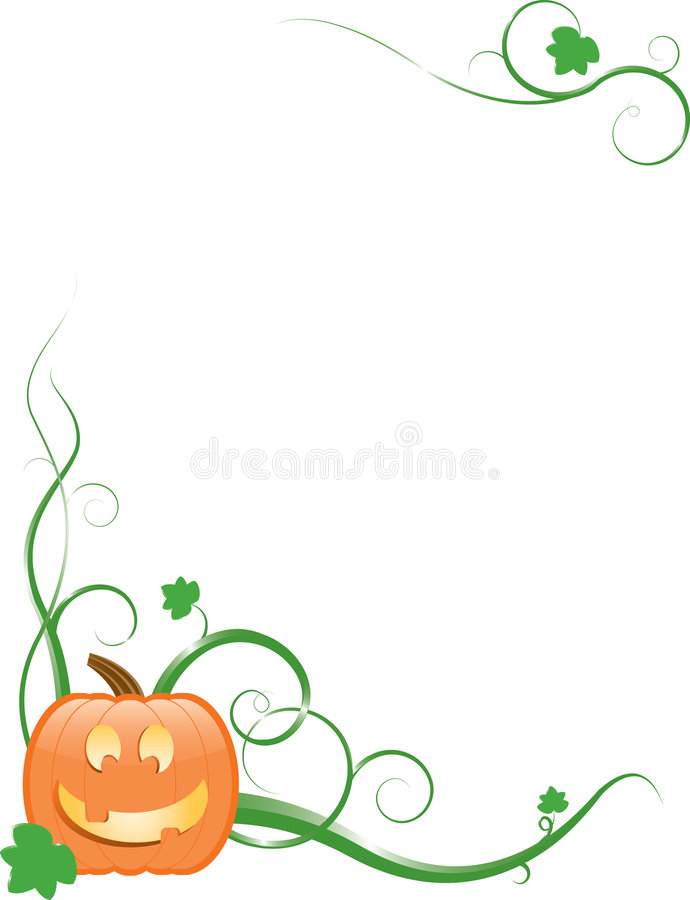 Jack-O-Lanterna, viti & fogli illustrazione vettoriale