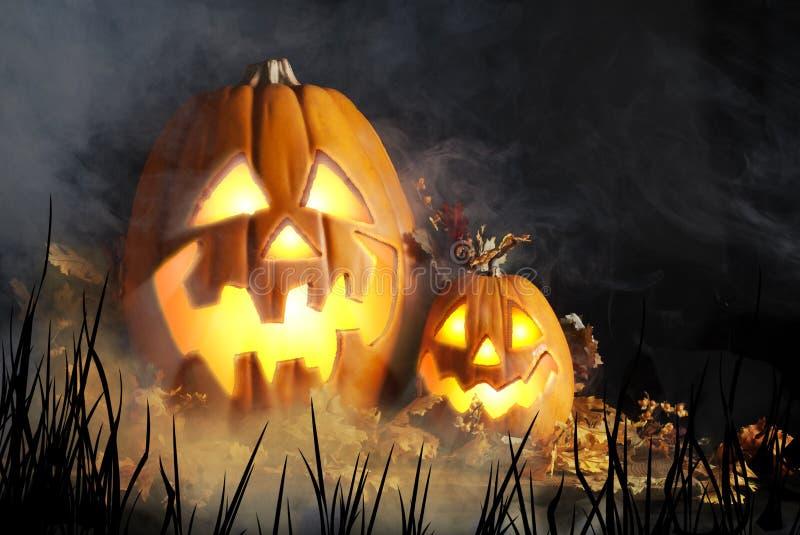 Jack-o-Lanternas de Halloween imagens de stock royalty free
