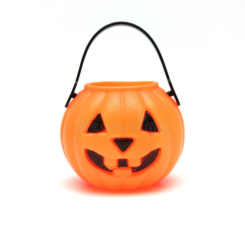 Jack-o-lanterne en plastique d'isolement images stock