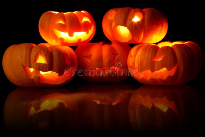 Jack-O-Lanterns stock photography