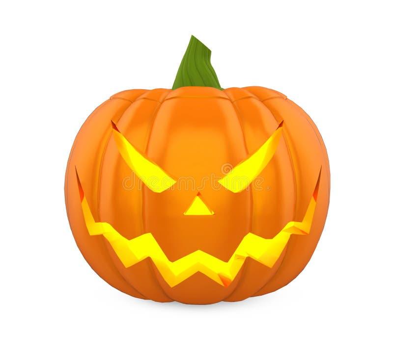 Jack O Latarniowa Halloweenowa bania Odizolowywająca ilustracji