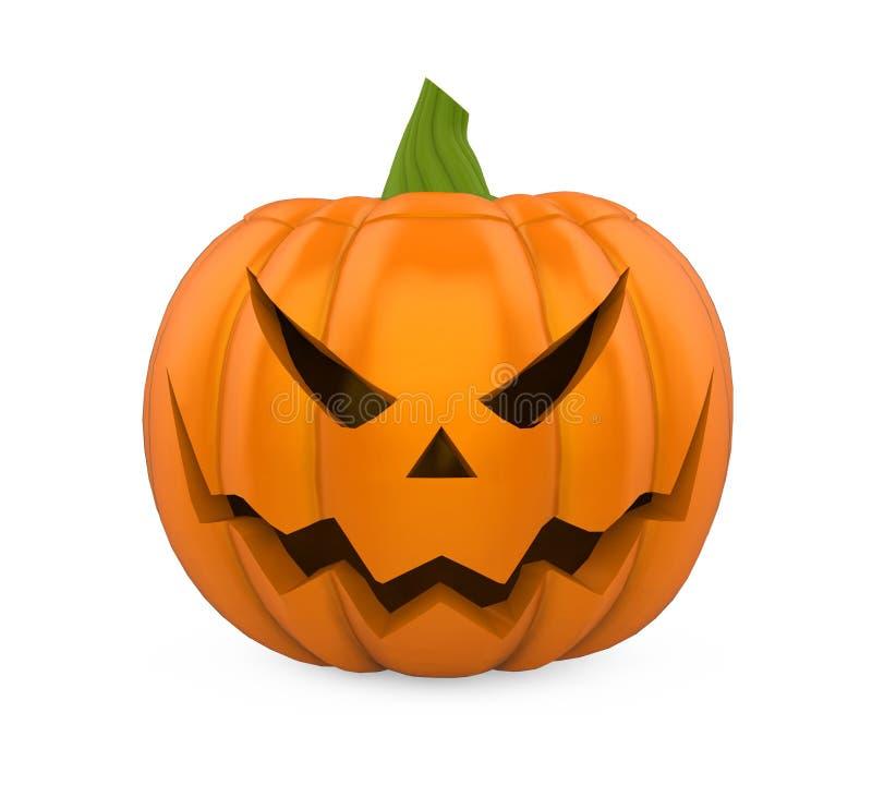 Jack O Latarniowa Halloweenowa bania Odizolowywająca ilustracja wektor