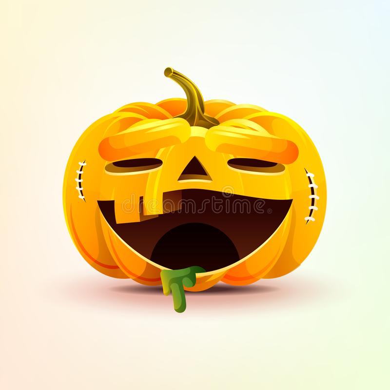 Jack-o-linterna, calabaza terrible del smiley de la expresión facial libre illustration