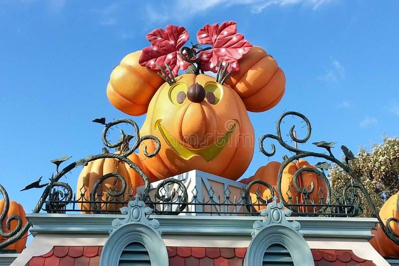 Jack-O-linterna de Halloween en Disneyland, California fotos de archivo libres de regalías