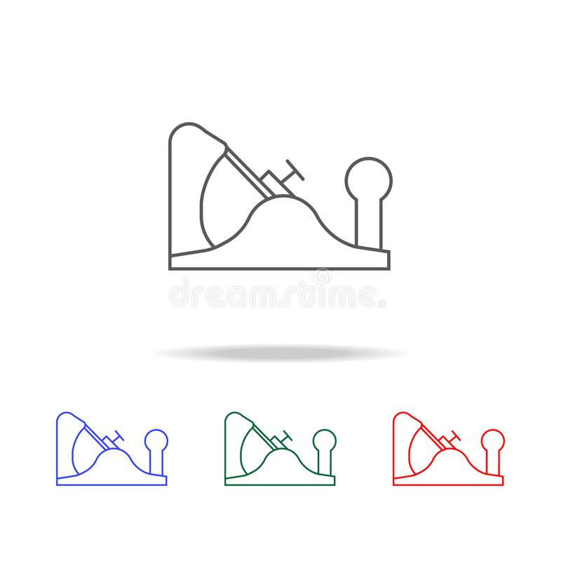 Jack plane line icon. Elements in multi colored icons for mobile concept and web apps. Icons for website design and development, a. Pp development on white royalty free stock photo