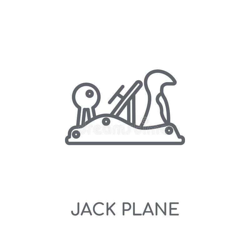 Jack plane linear icon. Modern outline Jack plane logo concept o stock illustration